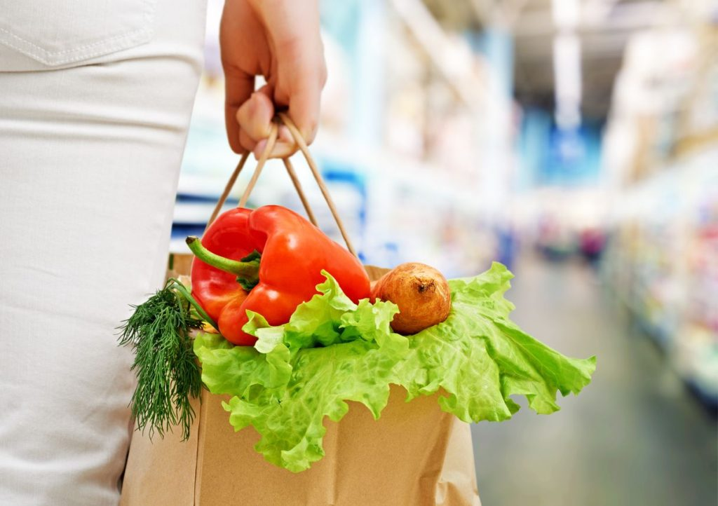 low carb products shopping bag