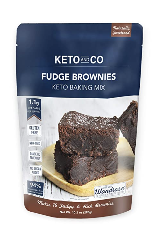 keto and co brownie package