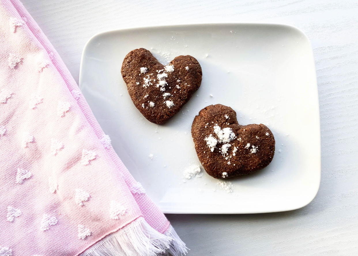 low carb brownies, 2 hearts